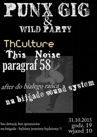 Concert THCulture - Old Sub Culture Tour - Wołów - BUNKIER - 31.10.2015