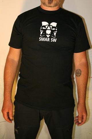 T-Shirt Man SMAR SW Black Logo White