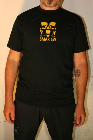 T-Shirt Man SMAR SW Black Logo Yellow