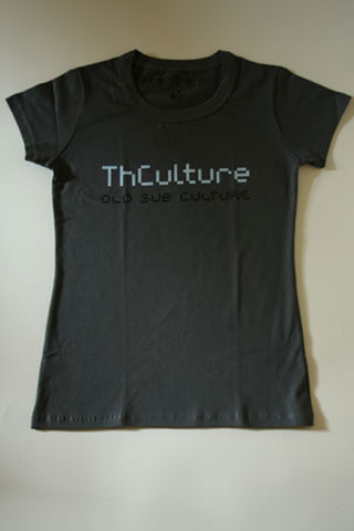 T-Shirt Woman THCulture Old Sub Culture Gray