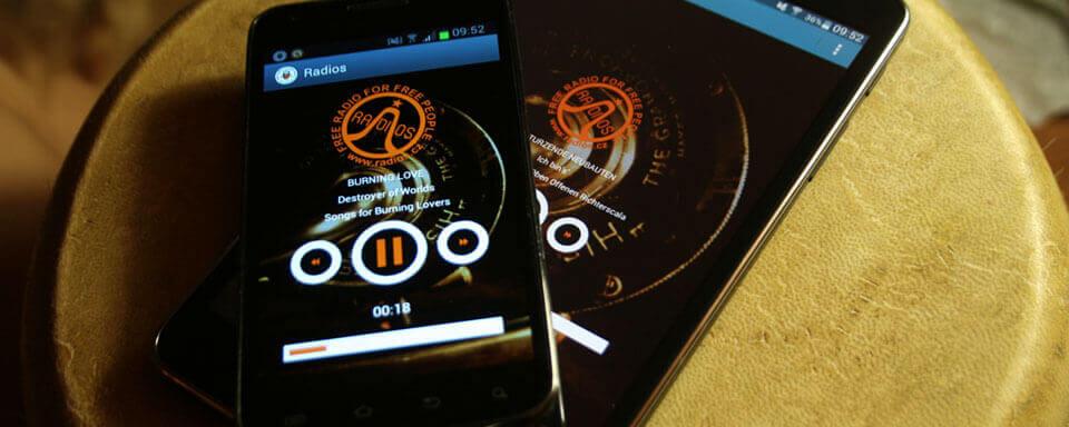 Aplikacja Radios.cz na Android